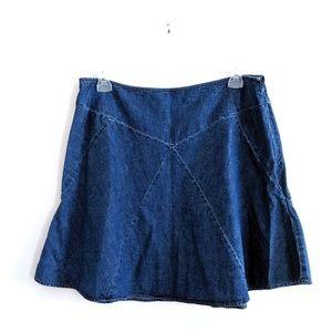 Chaps Denim Fit & Flare Skirt Size 16 100% cotton